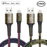 iPhone Charger Cable, YILON MFi Certified Lightning Cables 2Pack 2x3.3ft to USB Syncing Data and Fas